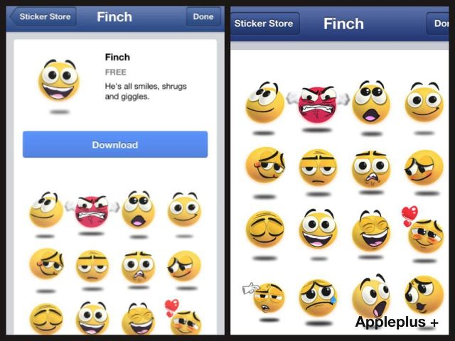 check out the new facebook stickers in facebook application the