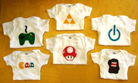 Video game onesies for baby geeks
