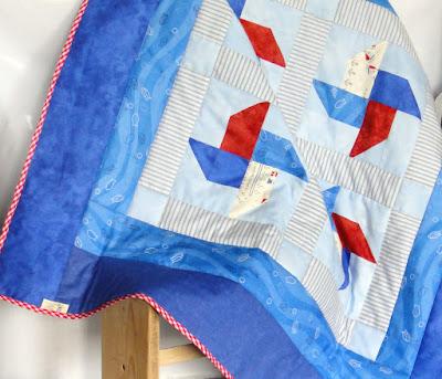 Летнее лоскутное одеяло в морском стиле, размер ок. 100 см.