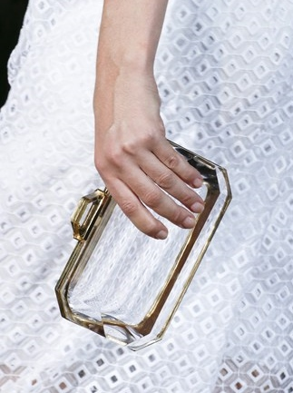 Stella McCartney Perspex Clutch