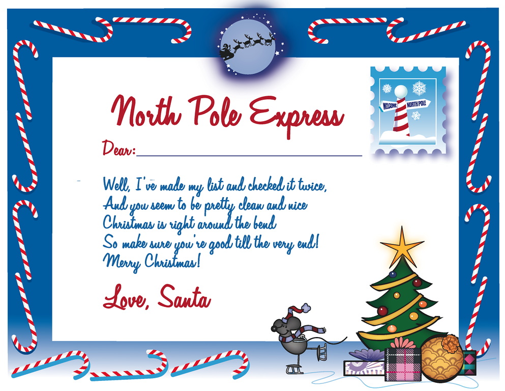 Custom of writing letters from santa free