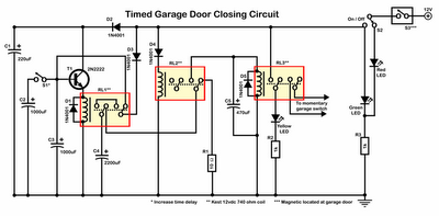 Timer Garage Door Circuit