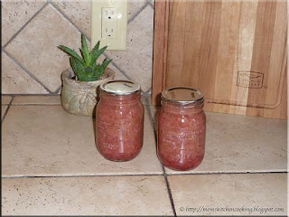 home canned stewed rhubarb