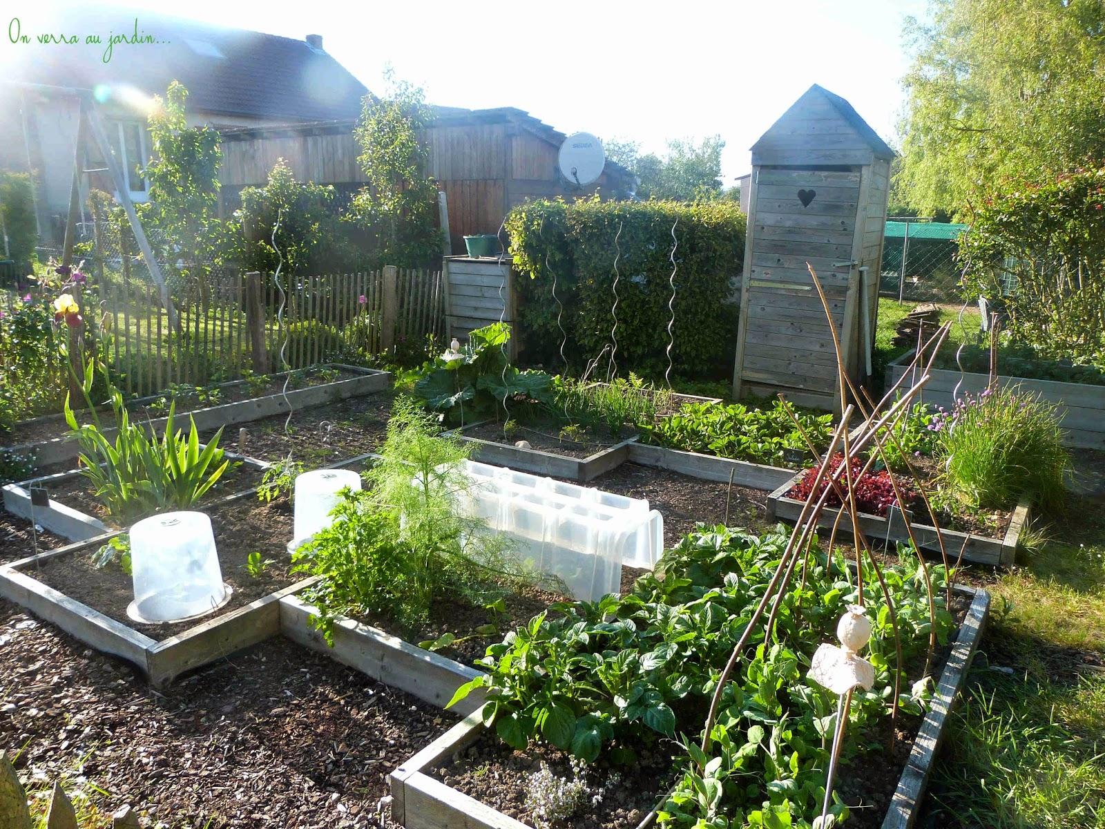 on verra au jardin potager de la mi mai. Black Bedroom Furniture Sets. Home Design Ideas