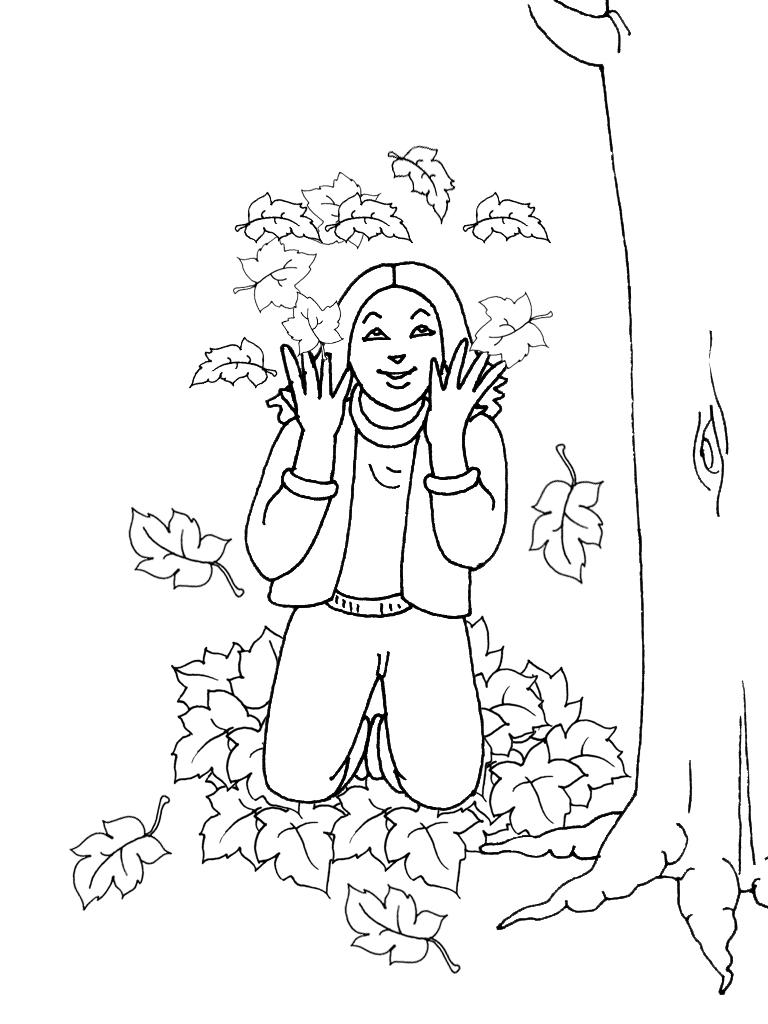 Coloriages Automne Coloriage Bonjour les enfants - Coloriage Automne A Imprimer Gratuit