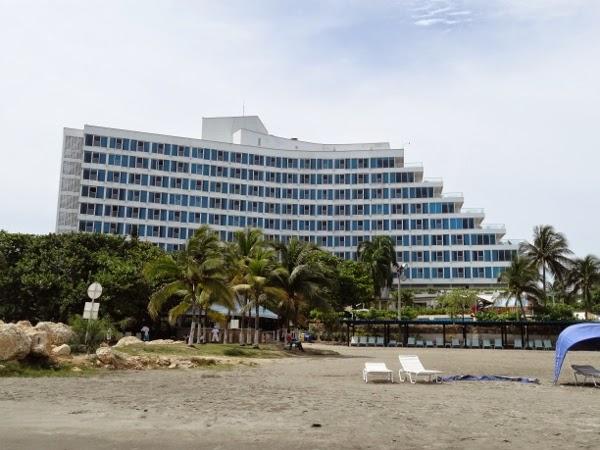 Hilton Cartagena from the beach.