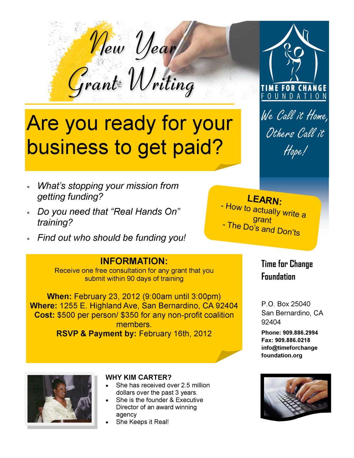free grant writing training