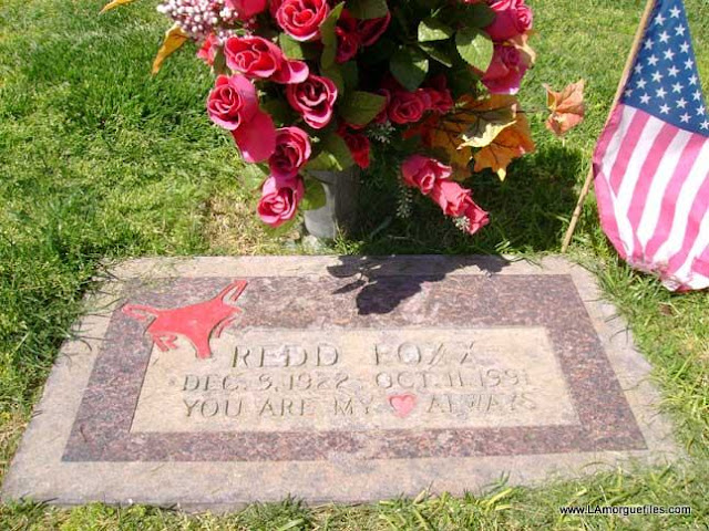 Los Angeles Morgue Files Sanford Son Comedian Redd Foxx 1991 Palm Valley View Cemetery Las