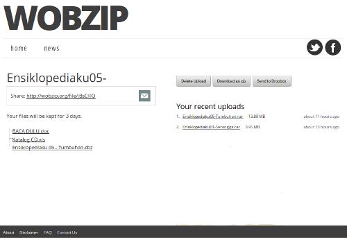 Gambar 2. Hasil Membuka (uncompress) File RAR di Wobzip