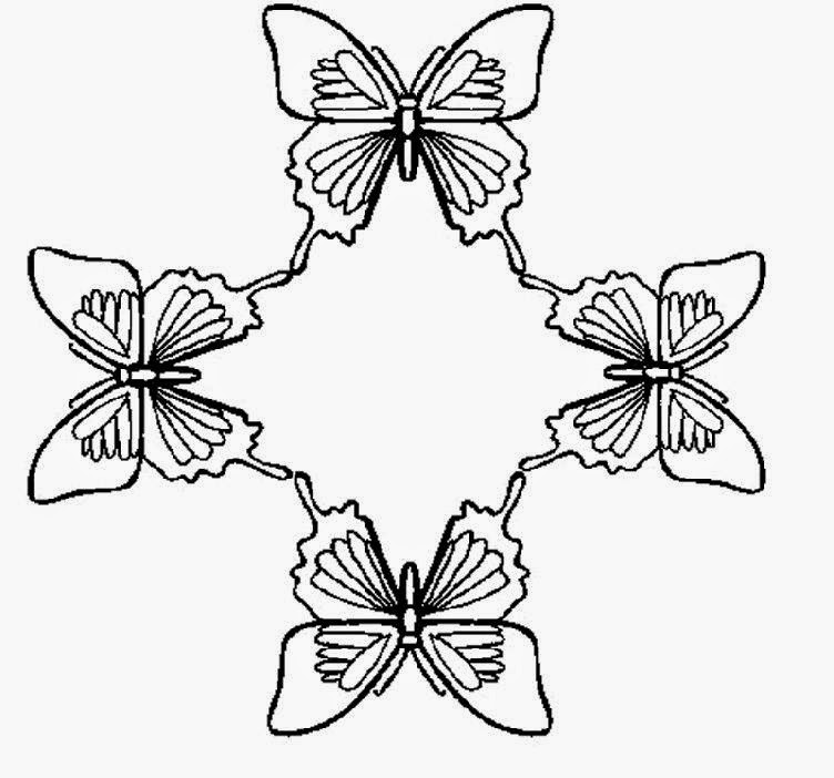 Free Detailed Butterfly Coloring Pages Butterfly Coloring Pages For Adults