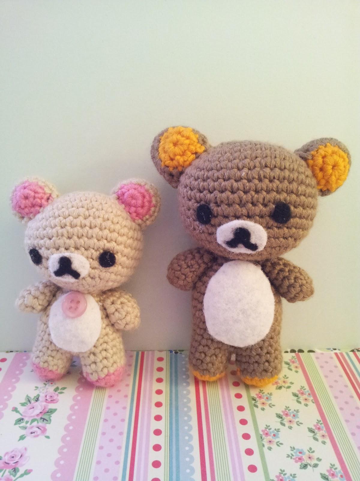 Roving Around Crafts: Amigurumis San-x Rilakkuma & Korilakkuma