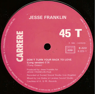 Jesse Franklin – Don\'t Turn Your Back On Love 12 Inch 1983