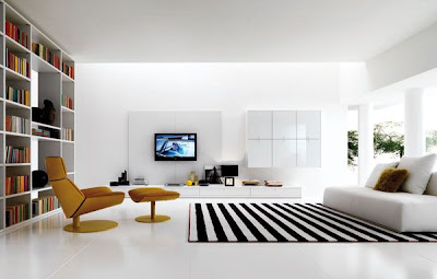 Decoraci n minimalista y contempor nea decoraci n de for Black n white living room