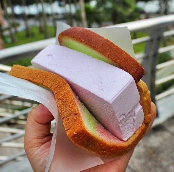 Singapur'a özgü bir tat: ekmek arası dondurma