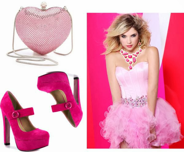 pink prom style