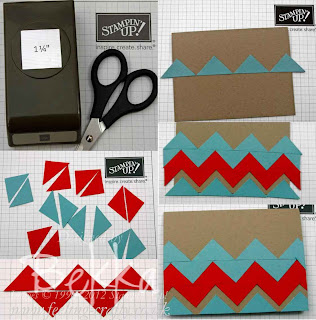 How to make a Chevron pattern with a Square Punch