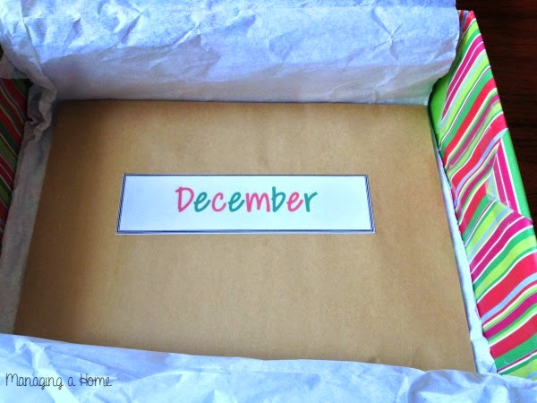 December Date Envelope for Year of Dates