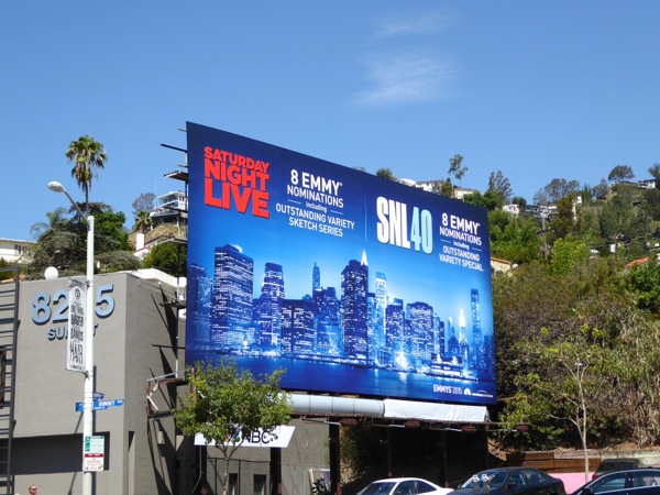 SNL 40 Emmy 2015 nomination billboard
