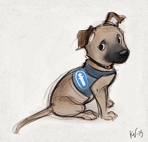 #illustration #sketch #luonnos #dog #koira #police #poliisi #koire