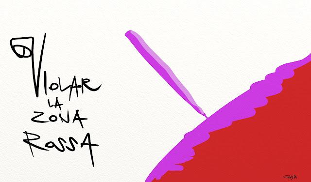 Gava gavavenezia satira vignette illustrazione caricatura fumetto ridere gavagnin marco illustratore disegno  no tav notav rosso viola