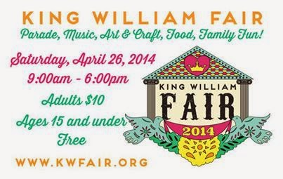 Inviting will be at the King William Fair in San Antonio on April 26 2014.