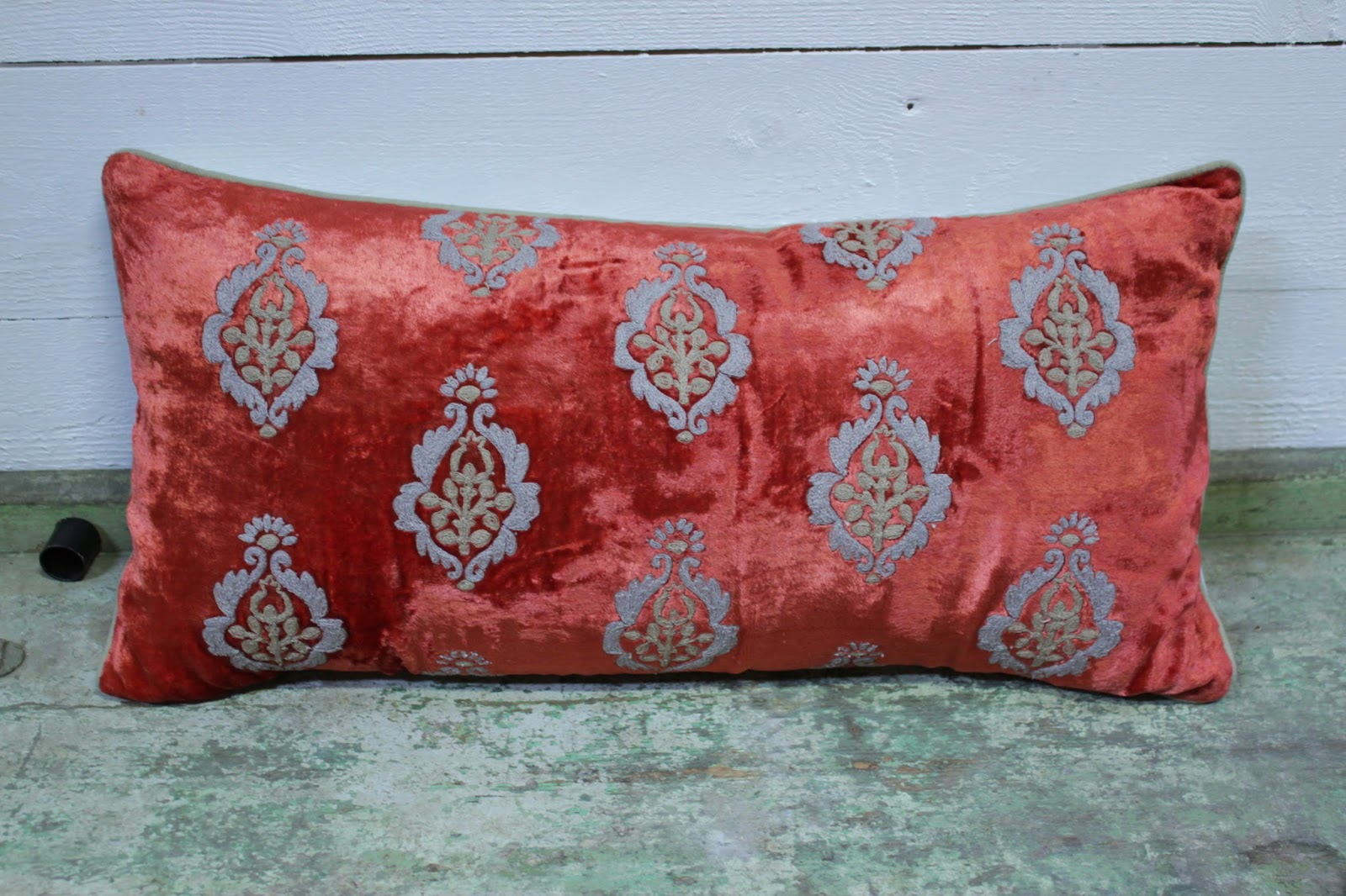 velvet cushion at Olsson Jensen