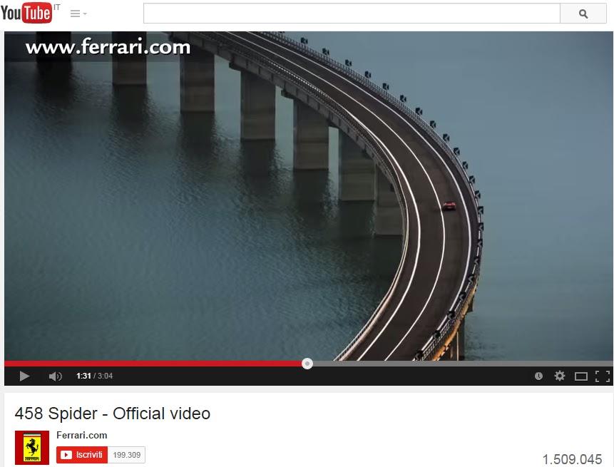 Guarda il video ufficiale della Ferrari 458 Spider