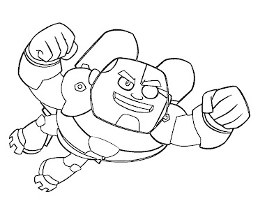 #2 Cyborg Coloring Page