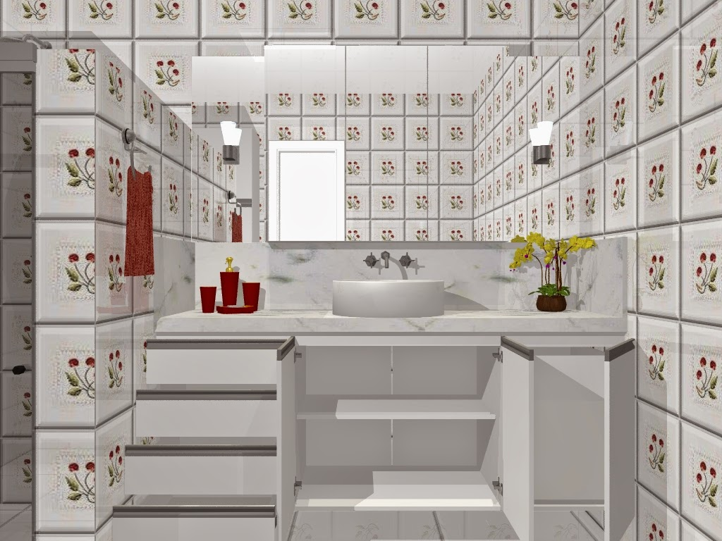 Banheiro Planejado Bella Kaza Móveis Planejados Fortaleza Bella #A99A22 1024 768
