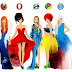 lol pics: fire fox vs. google chrome vs. opera vs. safari vs. internet explorer (12gambar)