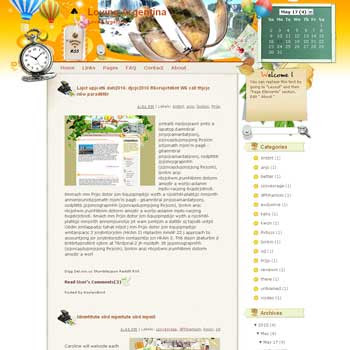 Loving Argentina blogger template from wordpress. travel blog template.