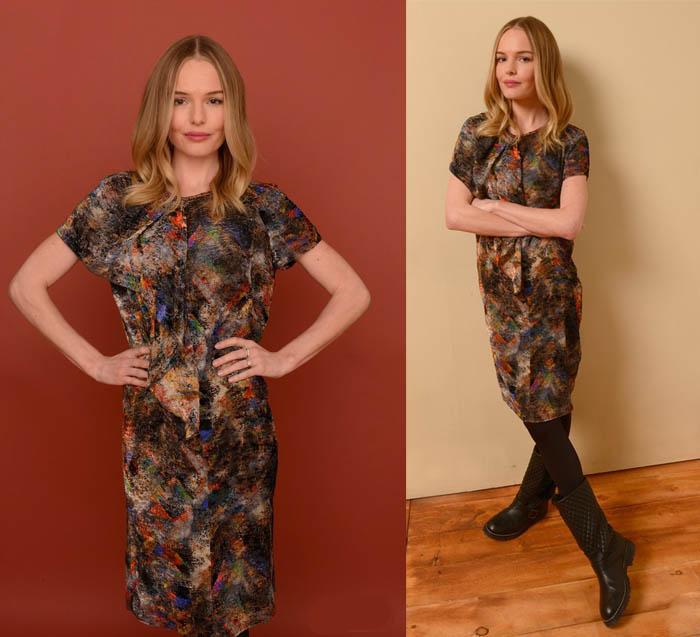 A CAMINHO DE SUNDANCE_Kate Bosworth_o melhor look_vestido com botinha_vestido estampado_tapete vermelho