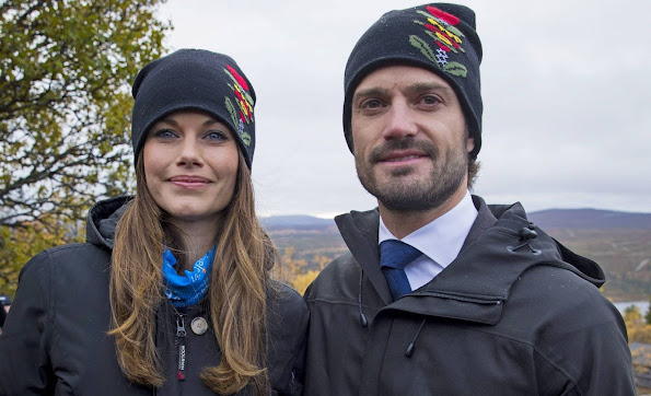 Prince Carl Philip of Sweden and Princess Sofia of Sweden on a two day visit to Dalarna where they visit a Sami tent in Idre,