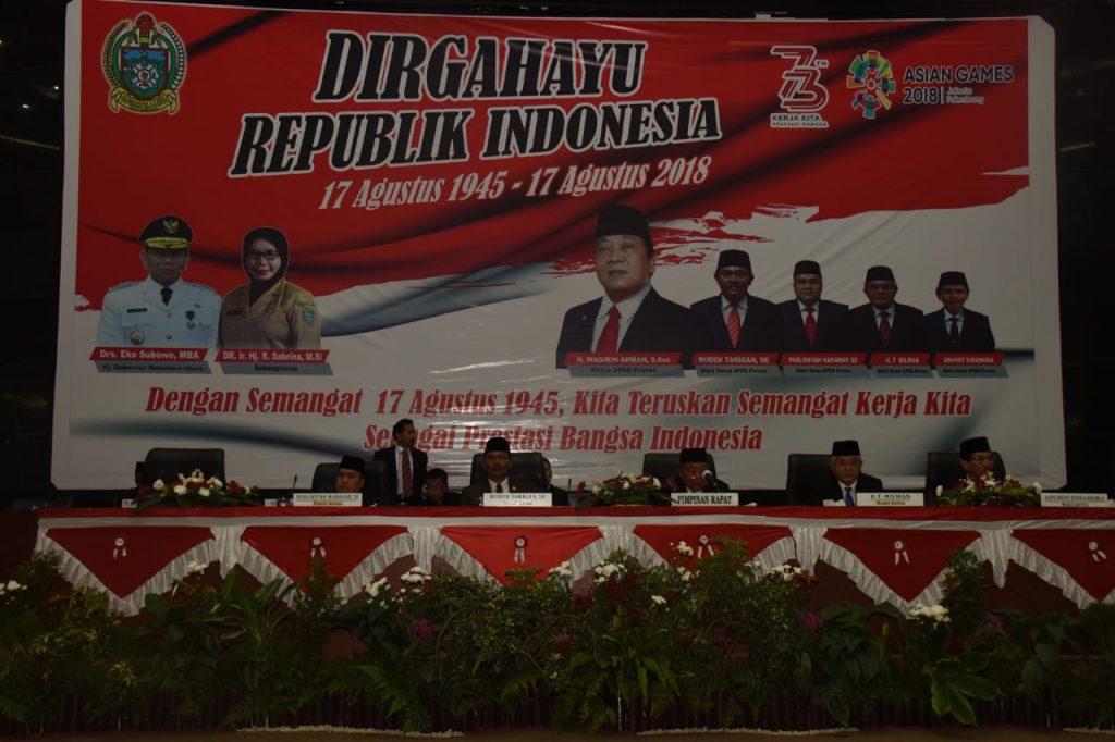 Wakapolda Sumut Hadiri Undangan Rapat Paripurna HUT ke-73 RI di Kantor DPRD Sumut