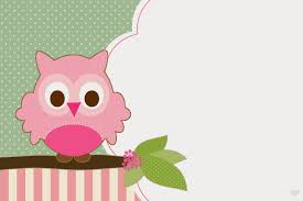 modelo de convitinho de chá de bebe com corujinha