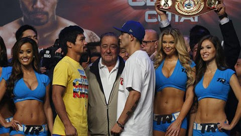 Pacquiao vs Rios Weigh In Video