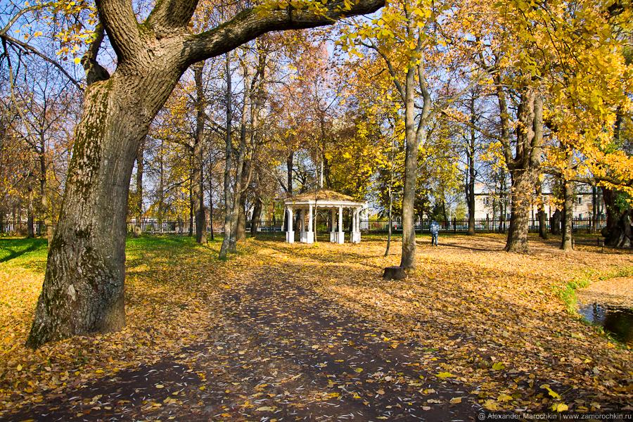 Беседка в парке. Пушкинская усадьба в Большом Болдине
