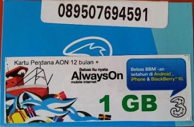 Update Terbaru Harga AON, Kuota Tri Paket Data Termurah