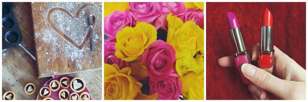 valentines jam tarts roses lipstick