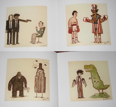 The Great Showdowns Hardback Book by Scott Campbell - Pulp Fiction, Rocky, King Kong & Edward Scissorhands
