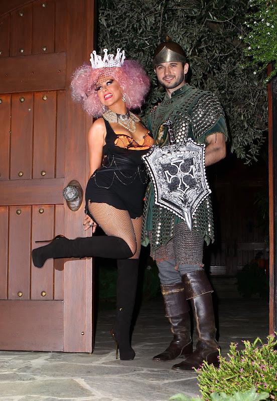 Christina Aguilera at 2012 Halloween Party