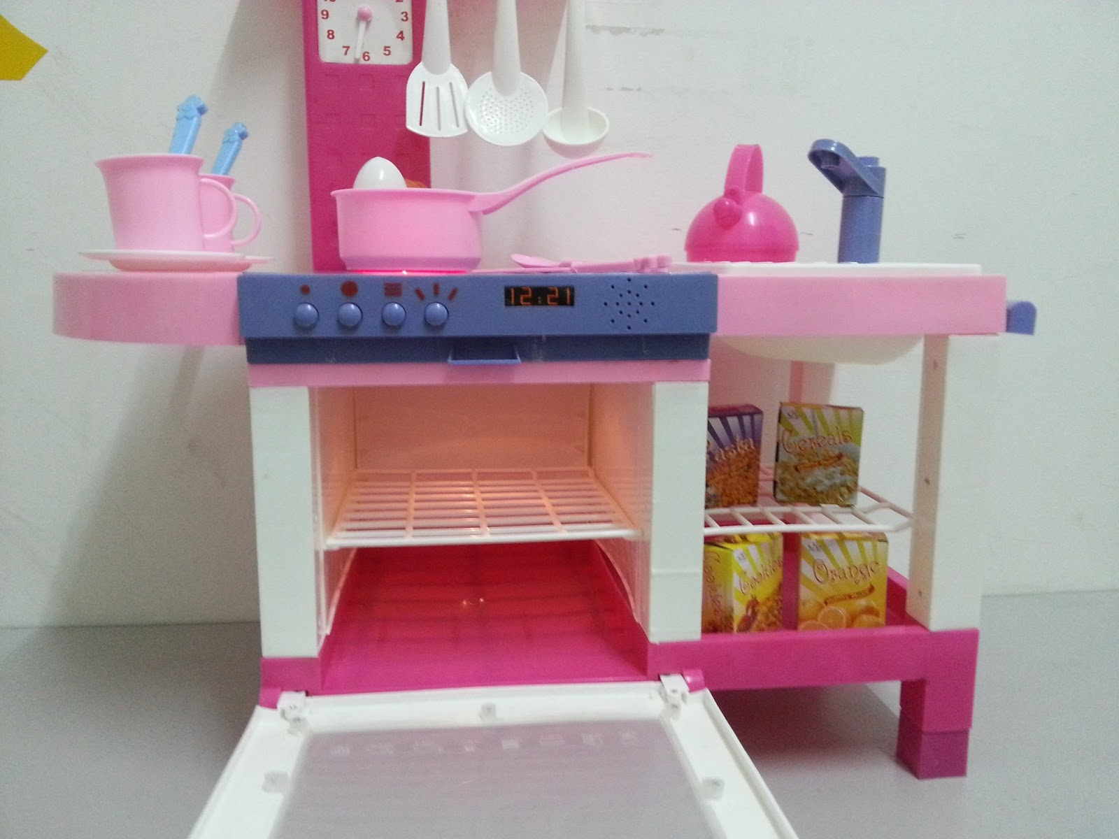 New electronic pink kitchen set for Kitchen set pink