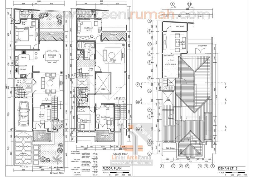 Model denah lebar meter rumah lantai seni