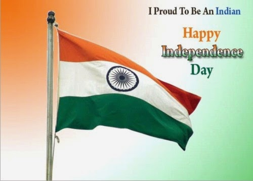 Indian National Flag Happy Independence Day 2014 SMS