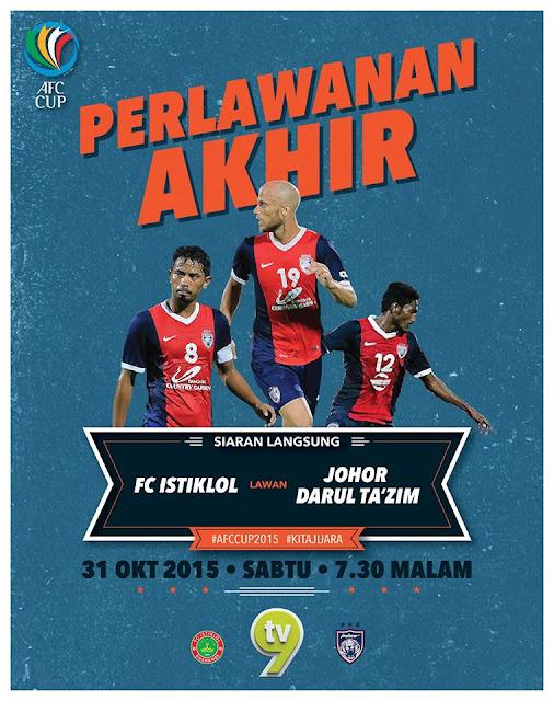 Final Piala AFC Johor Vs Istiklol 2015 Online