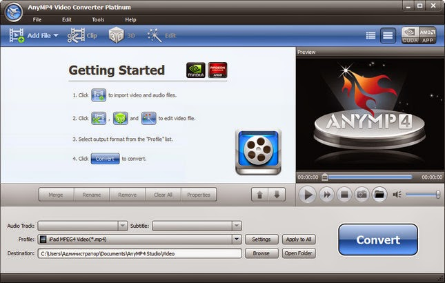 AnyMP4 Video Converter Platinum 6.1.56 + Crack Program indir Güncel