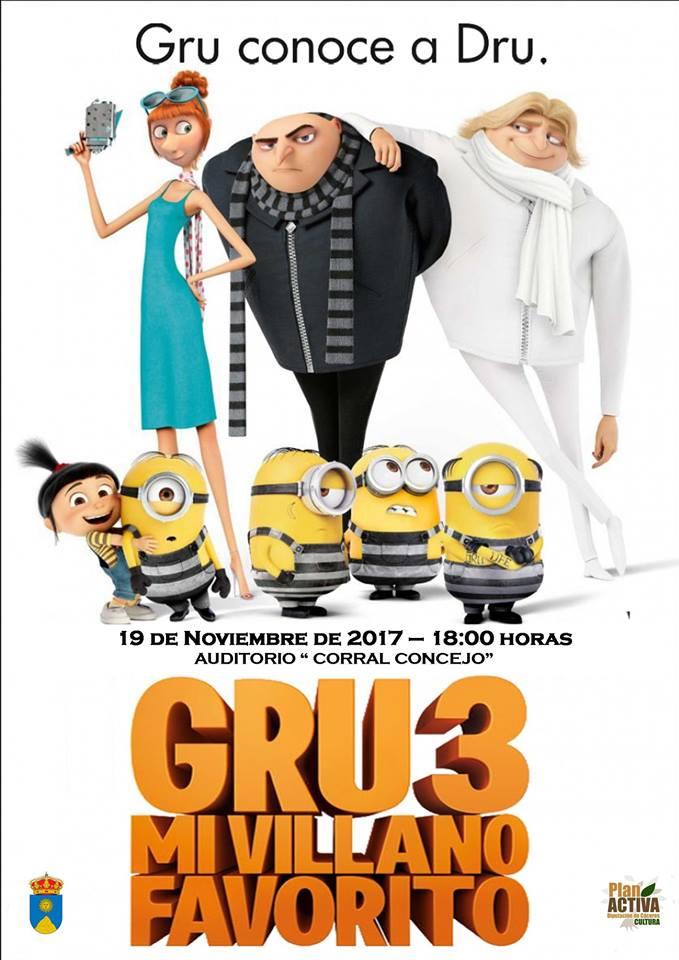 """Cine - """"Gru 3"""""""