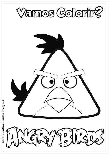 Desenho Angry Birds Chuck para colorir