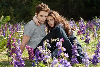 Bella y Edward en el prado. Escena de Amanecer. Parte 2. LA TAQUILLA. Making Of