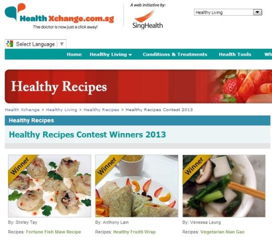 fish maw health xchange recipe winner